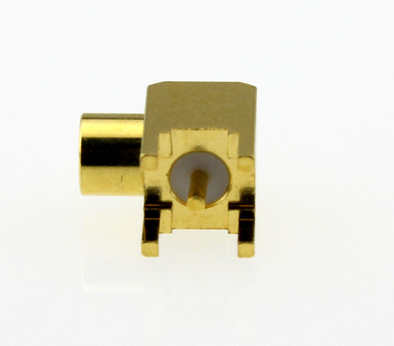 MCX Jack Female Right Angle PCB Coaxial Connector 50 ohms Left