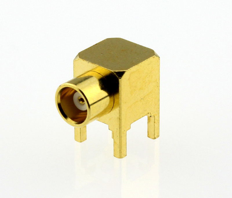 MCX Jack Female Right Angle PCB Coaxial Connector 50 ohms