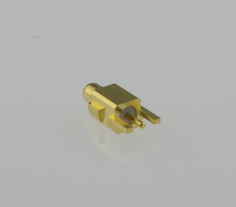 MMCX Plug Male Straight Edge Card Mount Coaxial Connector 50 ohms MMCX1251G3-GTG-50 Back