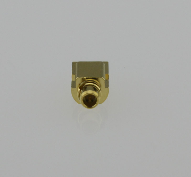 MMCX Plug Male Straight Edge Card Mount Coaxial Connector 50 ohms MMCX1251G3-GTG-50 Front