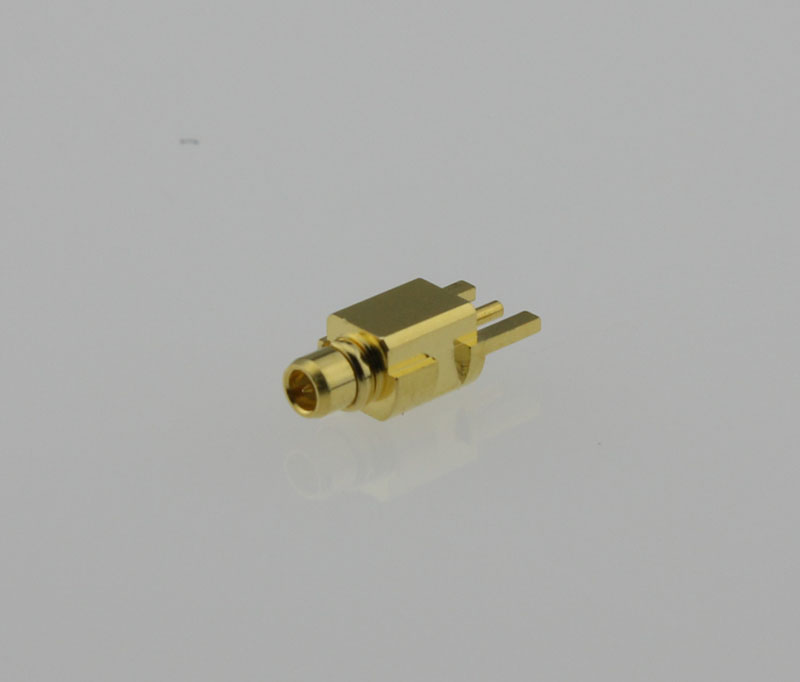 MMCX Plug Male Straight Edge Card Mount Coaxial Connector 50 ohms MMCX1251G3-GTG-50