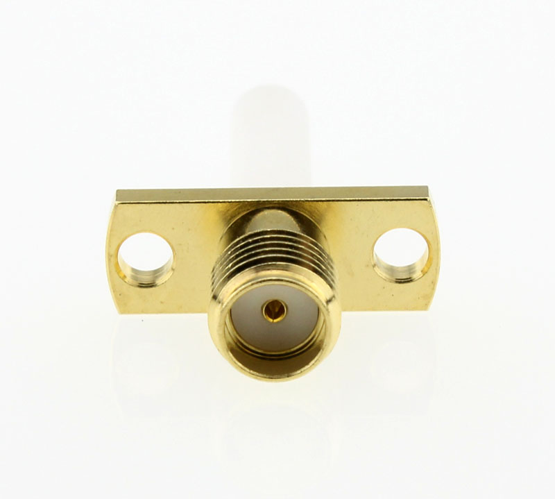 SMA Jack Female Straight Panel Receptacle Coaxial Connector 50 ohms SMA6551P1 GTG 50 Front