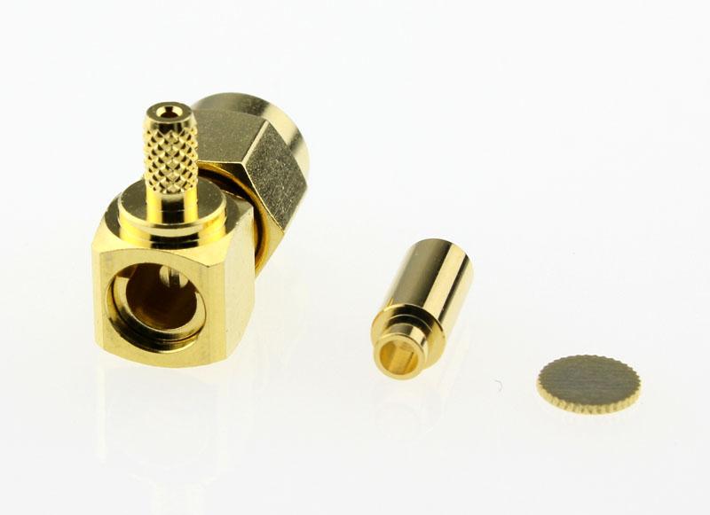 SMA Plug Male Right Angle Coaxial Connector 50 ohms SMA1122B1 GTG 178U 50 Back
