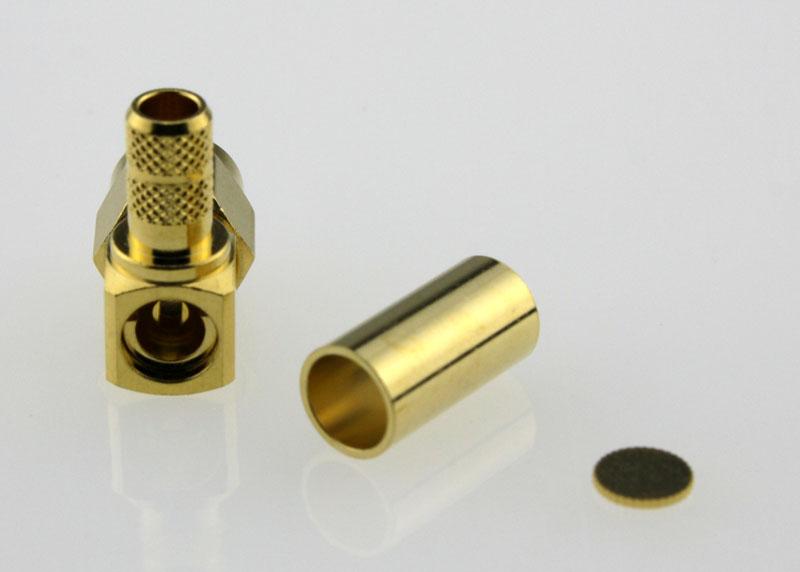 SMA Plug Male Right Angle Coaxial Connector 50 ohms SMA1122B2 GTG L200 50 Back