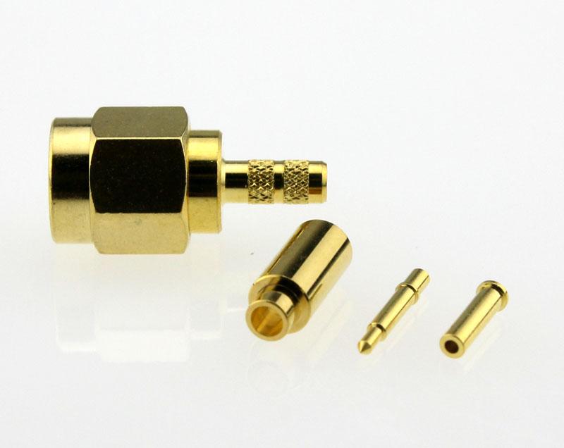 SMA Plug Male Straight Coaxial Connector 50Ω SMA1121A4-GTG-178U-50 Side