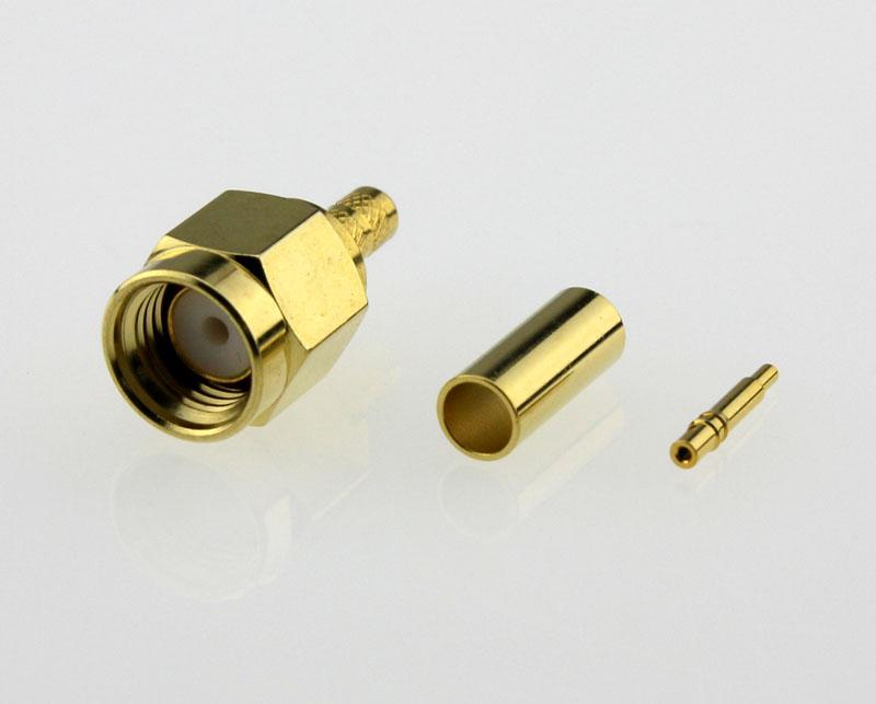 SMA Plug Male Straight Coaxial Connector 50 ohms SMA1121A6 GTG 316U 50