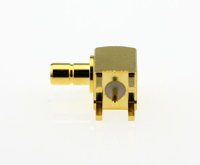 SMB Jack Female Right Angle Coaxial Connector 50 ohms Left