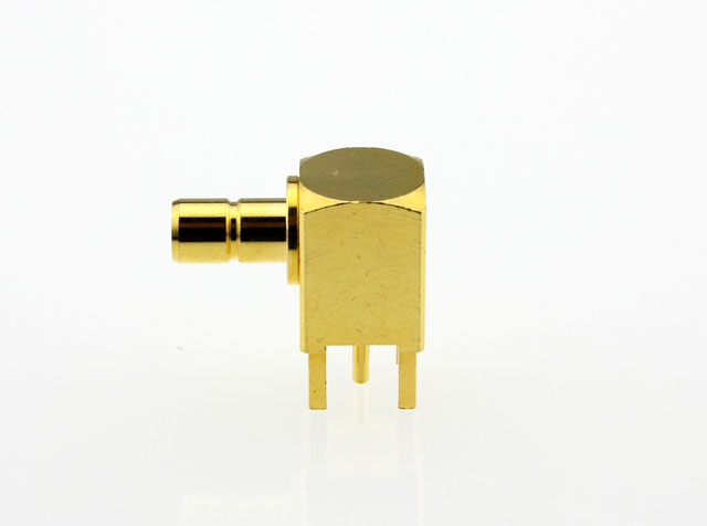 SMB Jack Female Right Angle Coaxial Connector 50 ohms Side