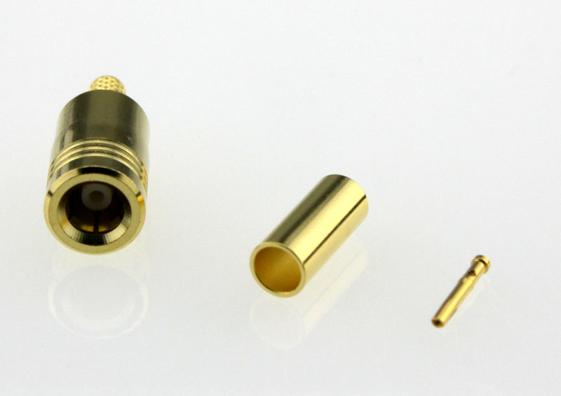 SMB Plug Male Straight Crimp Coaxial Connector 50 ohms for RG-174 / U,316 / U,LMR-100 Cable Front
