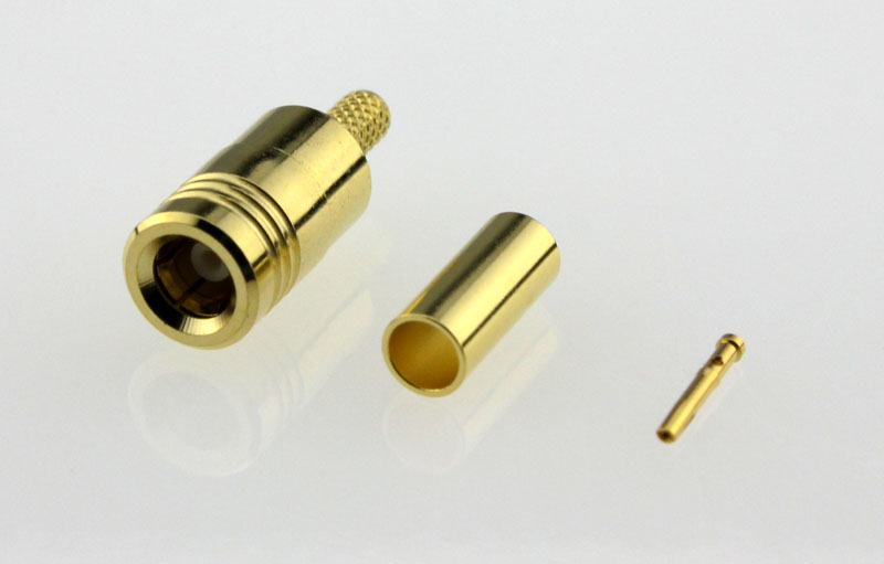 SMB Plug Male Straight Crimp Coaxial Connector 50 ohms for RG-174 / U,316 / U,LMR-100 Cable Left