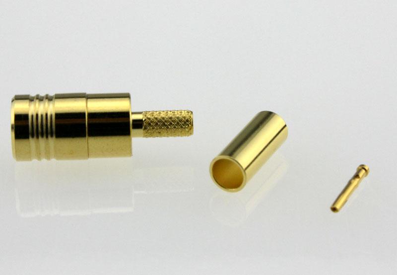 SMB Plug Male Straight Crimp Coaxial Connector 50 ohms for RG-174 / U,316 / U,LMR-100 Cable Side
